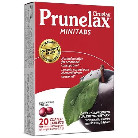 Prunelax Ciruelax Minitabs Natural Laxative, Coated Tablets - 20.0 ea