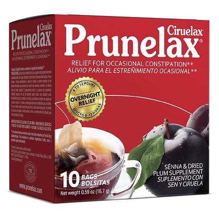 Prunelax Ciruelax Natural Laxative Regular Tea Plum - 10.0 ea