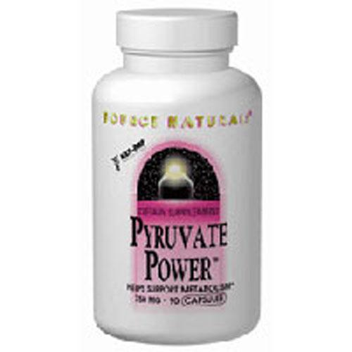 Pyruvate Power 60 Caps by Source Naturals