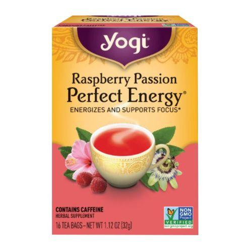 Raspberry Passion Perfect Energy 16 bags, 1.27 oz (32 g) by Yogi
