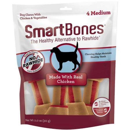 SB00313 Medium Vegetable & ChickenBones Rawhide Free Dog Chew