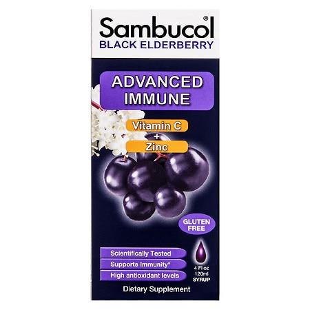 Sambucol Black Elderberry Advance Immune Syrup - 4.0 fl oz