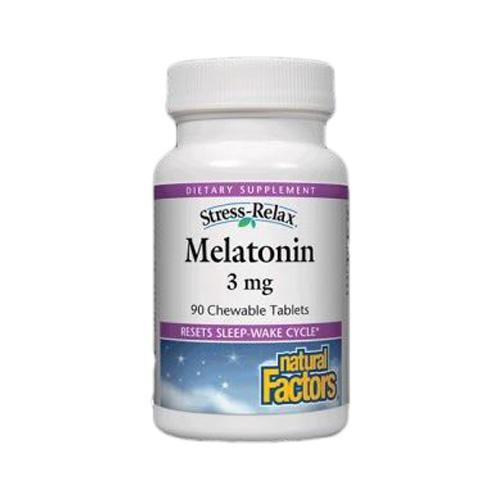 Stress-Relax Melatonin 180 Chewable Tablets by Natural Factors