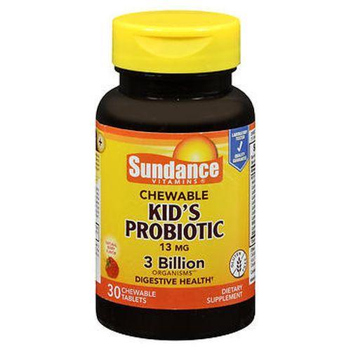Sundance Kids Probiotic Chewable Tablets Natural Berry Flavor 30 Each by Sundance
