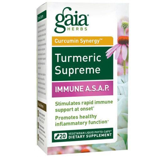 Turmeric Supreme: Immune A.S.A.P. 20 Caps by Gaia Herbs