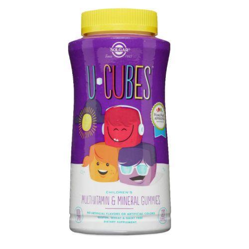 U-Cubes Children's Multi-Vitamin and Mineral Gummies 120 Gummies by Solgar