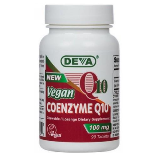 Vegan Coenzyme Q10 90 Chewable Tabs by Deva Vegan Vitamins