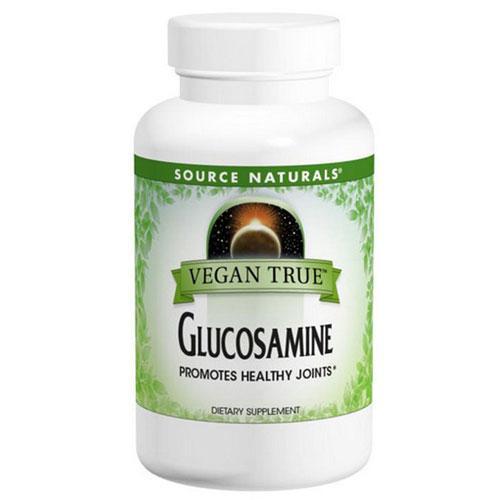 Vegan True Glucosamine 60 Tabs by Source Naturals