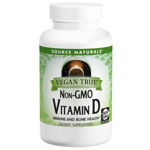 Vegan True Non-GMO Vitamin D 120 Tabs by Source Naturals