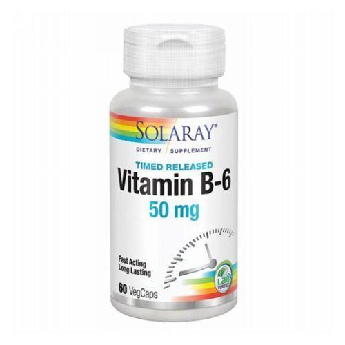 Vitamin B-6 60 Caps by Solaray