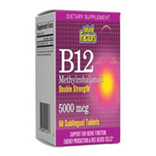 Vitamin B12 Methylcobalamin Double Strength 60 Tabs by Natural Factors