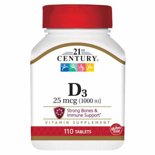 Vitamin D-1000 110 Tabs by 21st Century