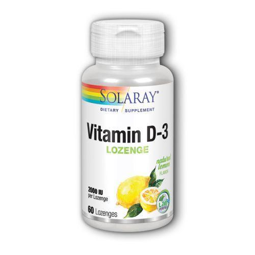 Vitamin D-3 Lemon 60 Lozenges by Solaray