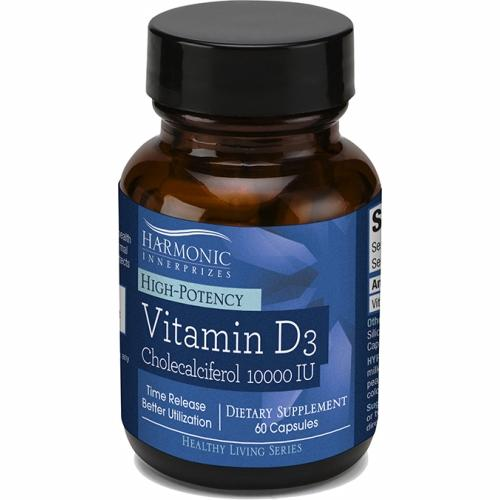 Vitamin D3 10000 IU 60 Count by Harmonic Innerprizes (formerly Etherium Tech)