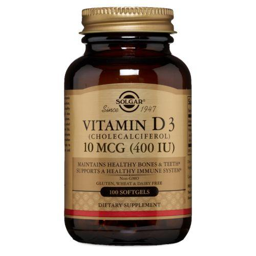 Vitamin D3 (Cholecalciferol) 100 S Gels by Solgar