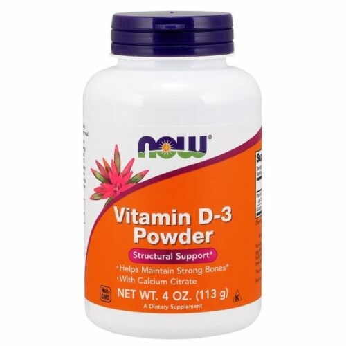 Vitamin D3 with Calcium Citrate 4 Oz by Now Foods