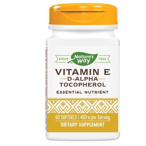 Vitamin E D-ALPHA SOFTGEL, 60 CAP by Nature's Way