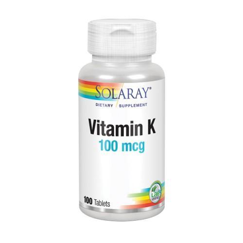 Vitamin K 100 Tabs by Solaray