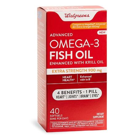 Walgreens Advanced Omega-3 Fish Oil Extra Strength 900 mg - 40.0 ea