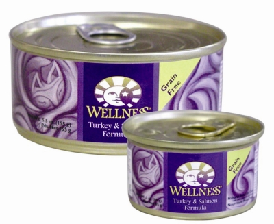 Wellpet OM08953 24-3 oz Wellness Canned Cat Turkey and Salmon Food