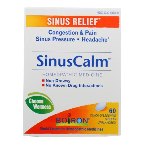 2480101 Sinus Calm Relief, 60 Tablets
