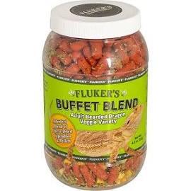 919252 4.5 oz Flukers Buffet Blend Veggie Variety Adult Bearded Dragon Food