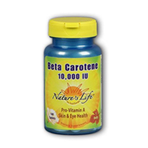 Beta Carotene 100 softgels by Nature's Life