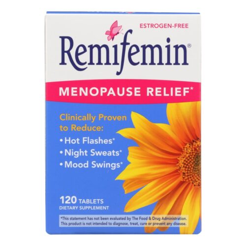 HG2125078 Remifemin Menopause Relief Dietary Supplement - 120 Tablets