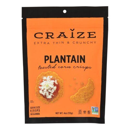 HG2485381 4 oz Corn Crisps Plantain Toasted Snacks - Case of 6