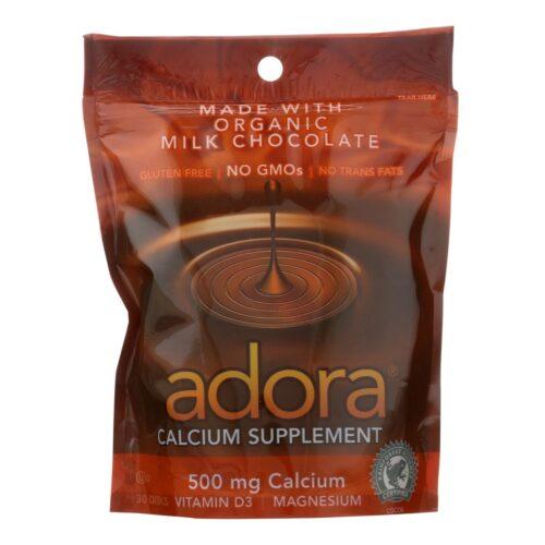HG2518421 Chocolate Disk Milk Chocolate Calcium - 30 Count