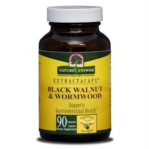 Natures Answer Black Walnut and Wormwood - 90 Liquid Capsules - 1150978