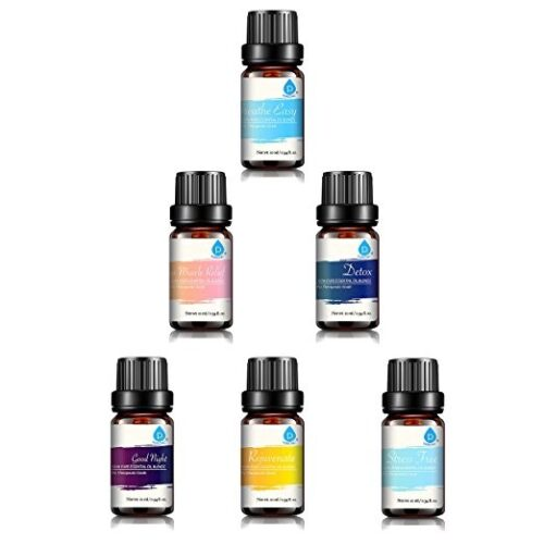 PURSONIC AOB-6 Pure Essential Aroma Oil Blends Pack of 6