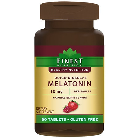 Walgreens Melatonin Natural Berry Flavor - 60.0 EA