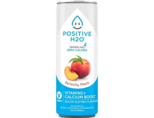 00330033 12 fl oz Perfectly Peach Electrolyte Sparkling Beverage - Pack of 12