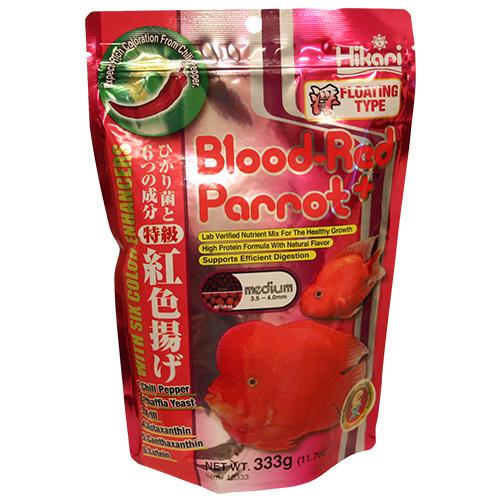 16333 Blood Red Parrot Plus Medium Pellet Koi Fish Food - 11.7 oz