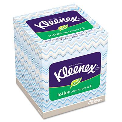 * 25829 KLEENEX Lotion Facial Tissue, 3-Ply, 75 Sheets per Box