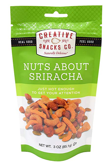302157 3 oz About Siracha Nuts, Pack of 6