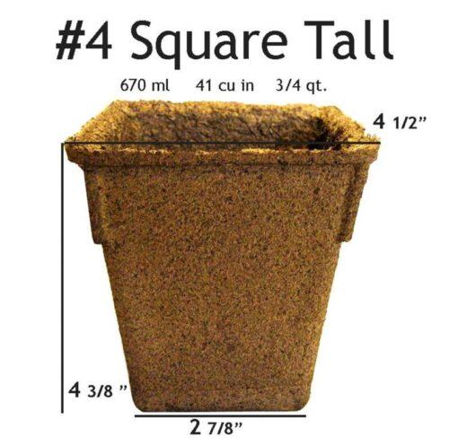 #4 Square Tall Pot - 24 pots