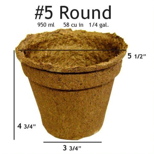 #5 Round Pot - 20 pots