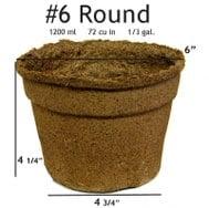 #6 Round Pot - 42 pots