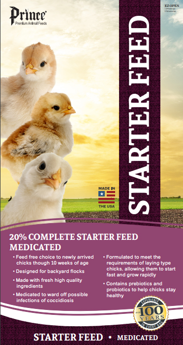 601150 40 lbs Medicated Chick Starter 20 Percent Crumble