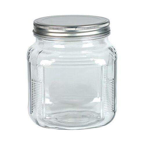 8489 32 oz Glass Jar with Metal Lid