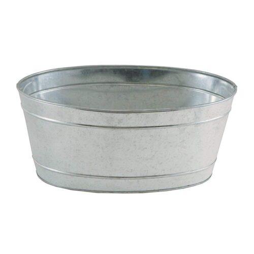 Achla C-51M Mini Oval Galvanized Tub