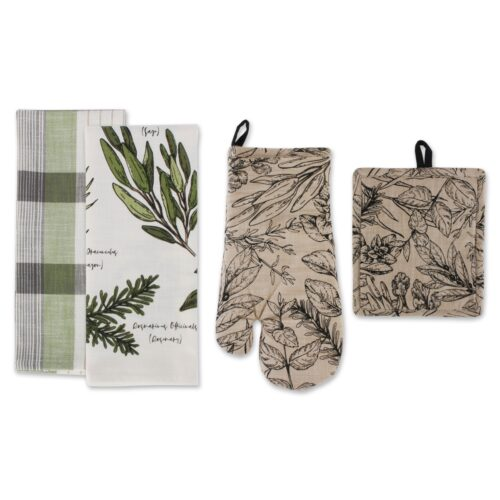 Design Imports CAMZ11623 Fresh Herbs Kitchen Dishtowel - Set of 4