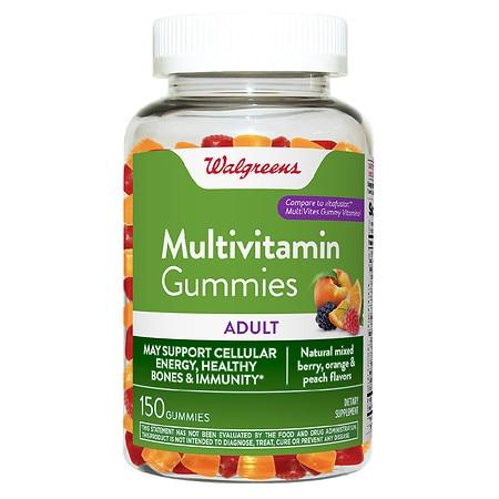 Walgreens Adult Multivitamin Gummy Berry, Orange, Peach - 150.0 ea