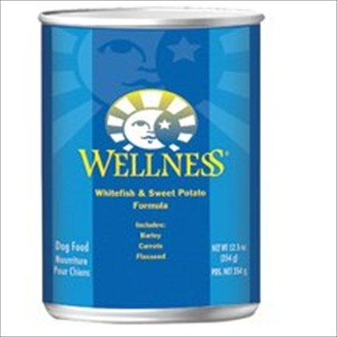 Wellness Fish Sweet Potato Canned Dog Food 12.5 Oz
